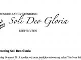 Uitvoering Soli Deo Gloria